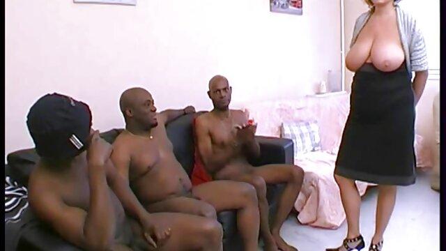 Gag-Man videos lesbianas chupando tetas 017 Ballgagged + Culo atado + Dildo en el coño